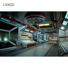 Laeacco Science Fantastic SpaceShip Station Internal Photography Backgrounds Vinyl Customs Camera Backdrops For Photo Studio