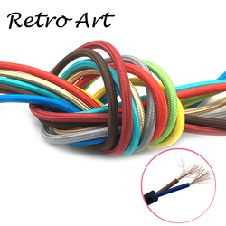 vintage edison style braided cable decorative pendant lamp cord retro fabric textile electric lamp wire