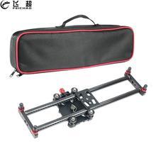 40cm Carbon Fiber Mini Slider Rail Bearing Desktop Stabilizer Universal Tripod for Track Slider Dolly Samrtphone DSLR Camera 3kg