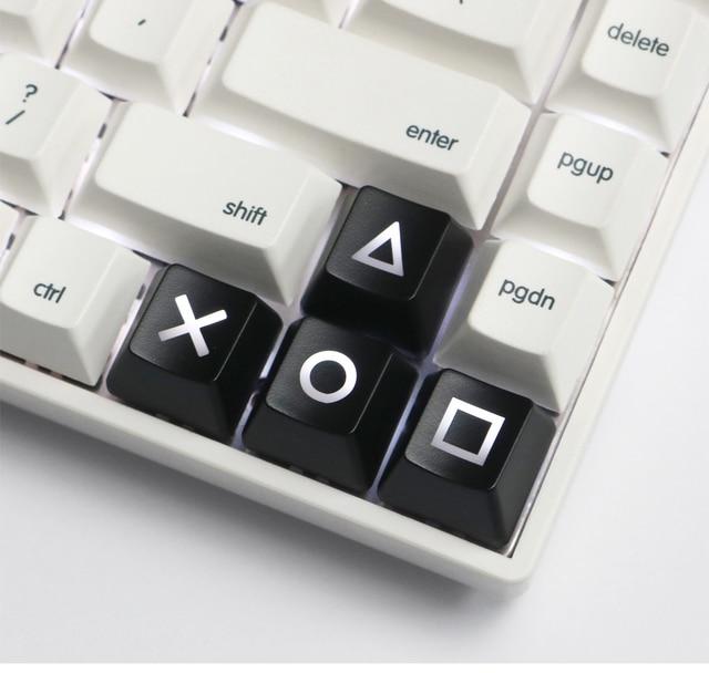 Preto vermelho cereja interruptor teclado mecânico abs r1 hight psp gaming keycap teclado dedicado