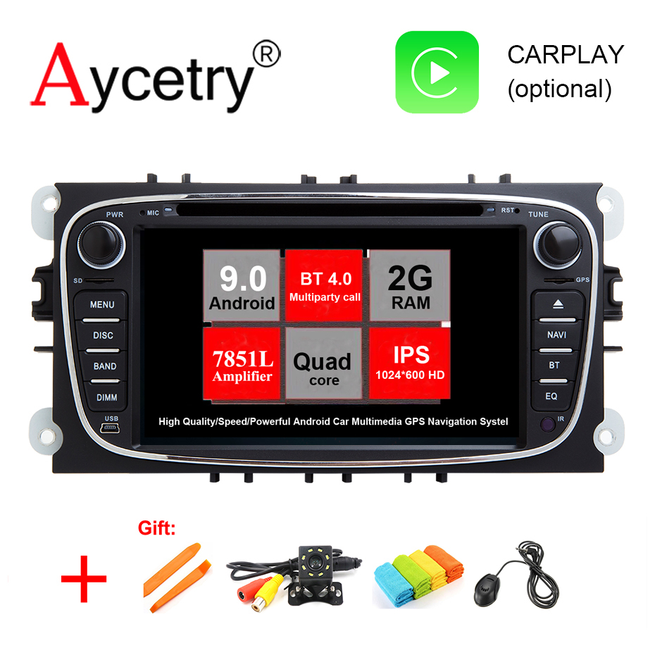 2 Din Android 9 GPS car dvd player gps audio for FORD/Focus/S MAX/Mondeo/C MAX/Galaxy wifi 4G CAR radio Multimedia DSP DVR obd2-in Car Multimedia Player from Automobiles & Motorcycles    1