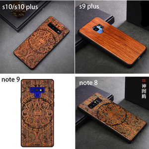 Image 5 - Custom Carved Wood Case For Samsung note 10 plus Note 8 Note 9 Case funda For Samsung s10 s9 plus Wooden TPU Protective Case