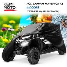 4 türen UTV KEMIMOTO Utility Fahrzeug Lagerung Abdeckung Für Can Am Maverick X3 Defender Max HD10 HD8 für Polaris RZR 4 XP 1000 900