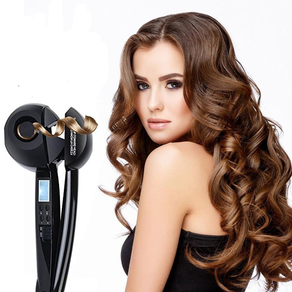 Automatic Hair Curler Magic Curling Iron LCD Display Hair Styling Tools Wave Quick Hair Styler Ceramic Heating Anti-perm
