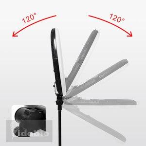 """Image 5 - Yidoblo FD 480II 18 """"写真スタジオ調光対応 led リングランプ 480 led ビデオライトランプ写真照明 + スタンド (2 メートル) + バッグ"""