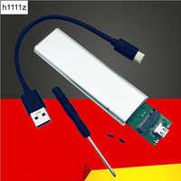 USB 3.1 à M.2 NGFF SSD boîtier de disque dur Mobile adaptateur carte boîtier externe pour m2 SATA SSD USB 3.1 2230/2242/2260/2280 M2