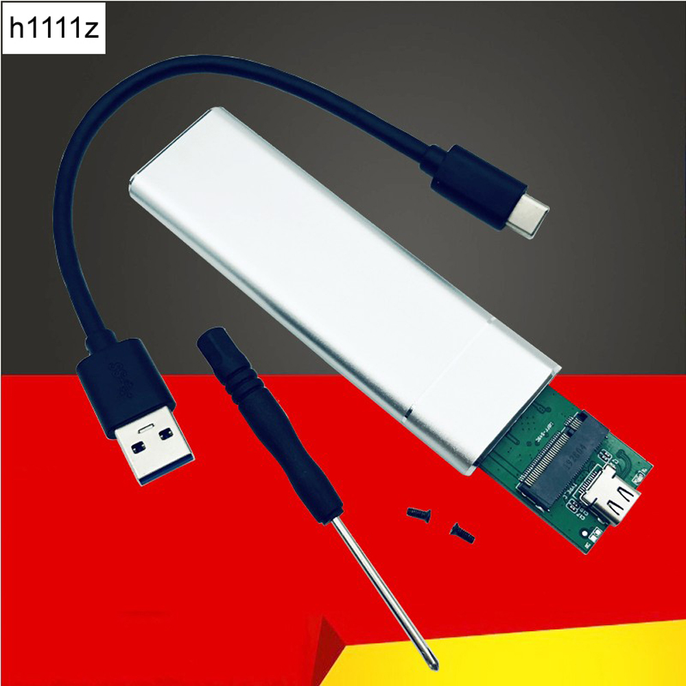 USB 3.1 to M.2 NGFF <font><b>SSD</b></font> Mobile Hard Disk <font><b>Box</b></font> Adapter Card External Enclosure Case for <font><b>m2</b></font> SATA <font><b>SSD</b></font> USB 3.1 2230/2242/2260/2280 <font><b>M2</b></font> image