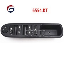 Driver Side Front Window Control Switch 6554.KT For Peugeot 307 307CC 307SW  6554.KT 6554KT LHD Master Power 6554 kt for peugeot 307 307cc 307sw black car auto driver side front window control switch