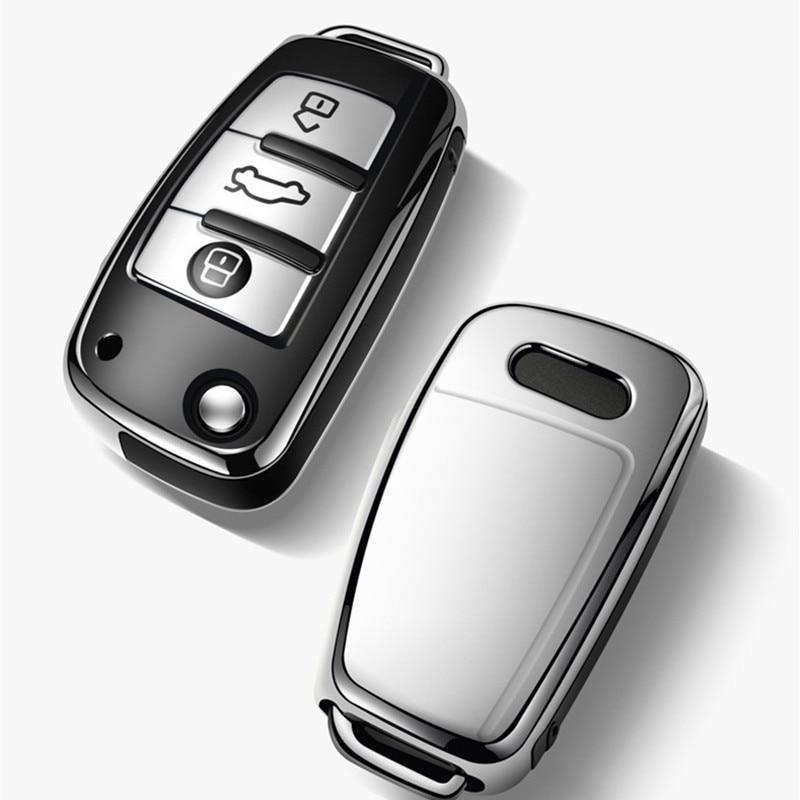 2003-2015 Car key case for audi a1 a3 a4 a5 a6 a7 a8 quattro q3 q5 q7 r8 allroad c5 c6 tt s3 s5 s6 s4 rs5 rs6 holder shell cover