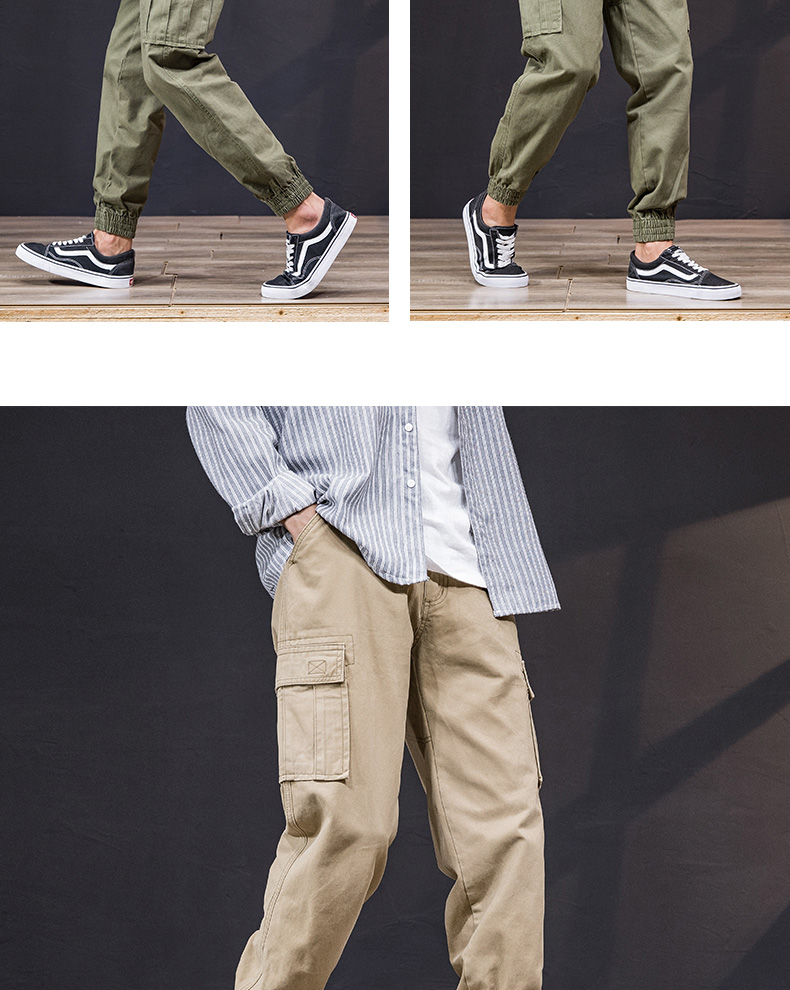 KSTUN Cargo Pants Men 100% Cotton Baggy Military Pants Khaki Camouflage Pants Casual Man Trousers Loose fit Streetwear Men Joggers 24