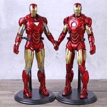 Marvel Iron Man 2 Mark VI MK 6 / Mark IV MK 4 1/6 Scale PVC Figure Statue Collection Model Toy