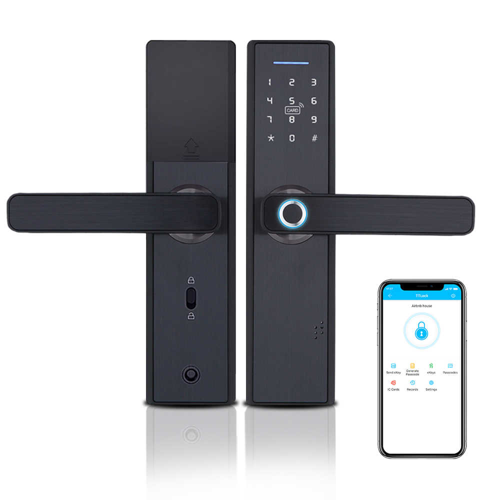 WIFI App Elettronico Serratura Della Porta, Intelligente Biometrico Serrature di Impronte Digitali, smart wifi Digitale Keyless Serratura Della Porta