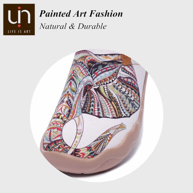 UIN Fil Tasarım kanvas ayakkabılar Kadınlar/Erkekler Rahat Daireler Konfor Slip-on kadın loafer'lar Hafif Açık Yürüyüş spor ayakkabı