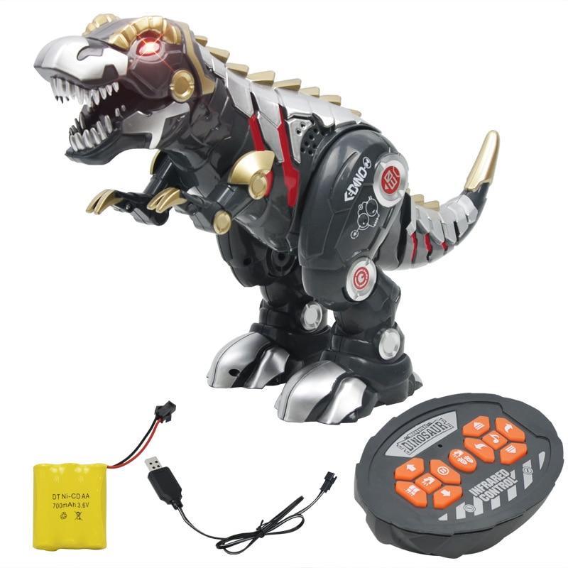 Charging electronic pet intelligent remote control dinosaur toy simulation mechanical robot light music sounds slide spin walk