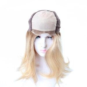 """Image 5 - MT11 14,5 """", peluca de lujo para mujeres, Mono, peluca judía de encaje frontal, peluca de cabello humano, pelucas de cabello chino Remy de cutícula para mujeres"""