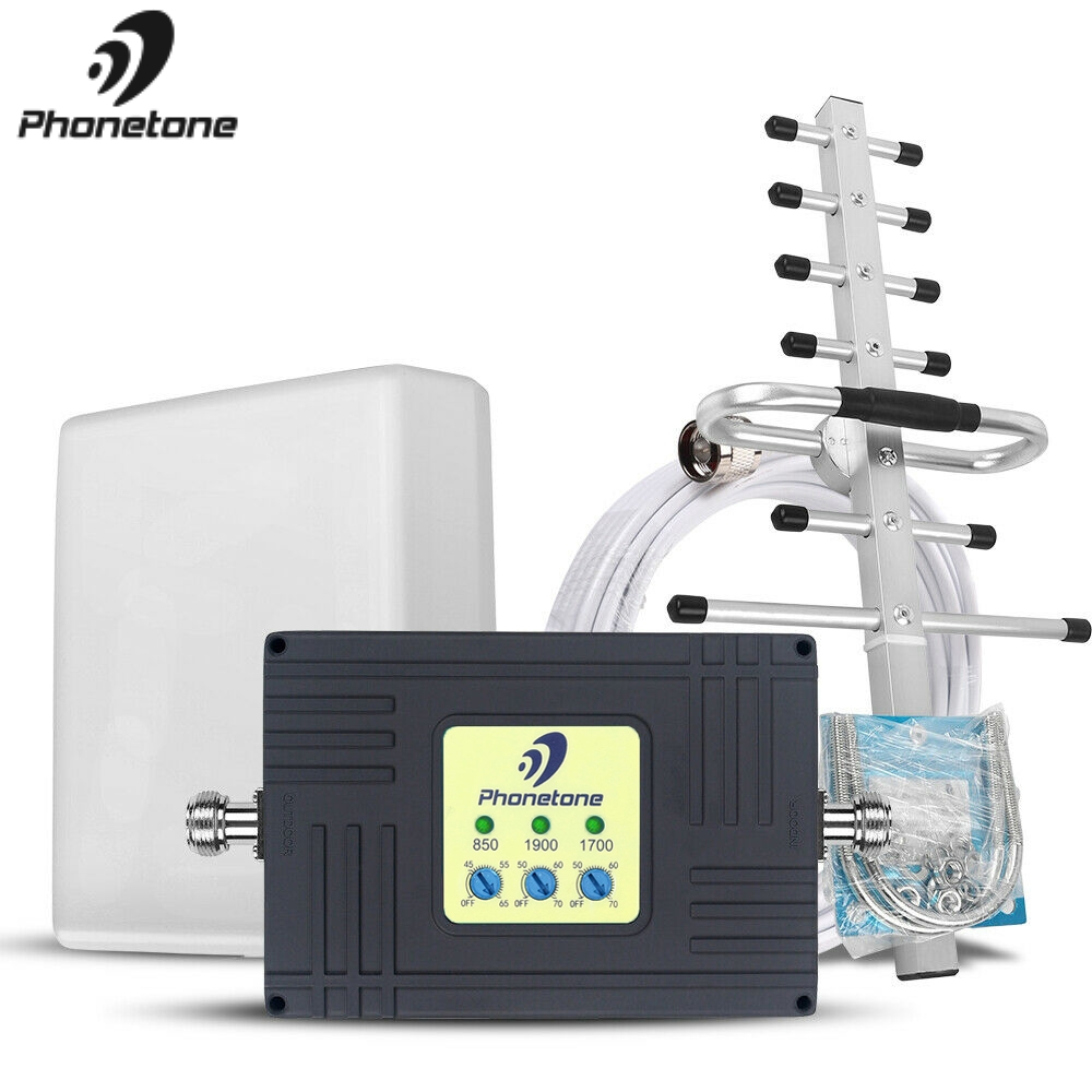 4G LTE Amplifier Cellular Signal Booster Tri-Band 850/1700/1900MHz 2G 3G 4G Lte Repeater Cell Phone Repeater For Chile & Mexico