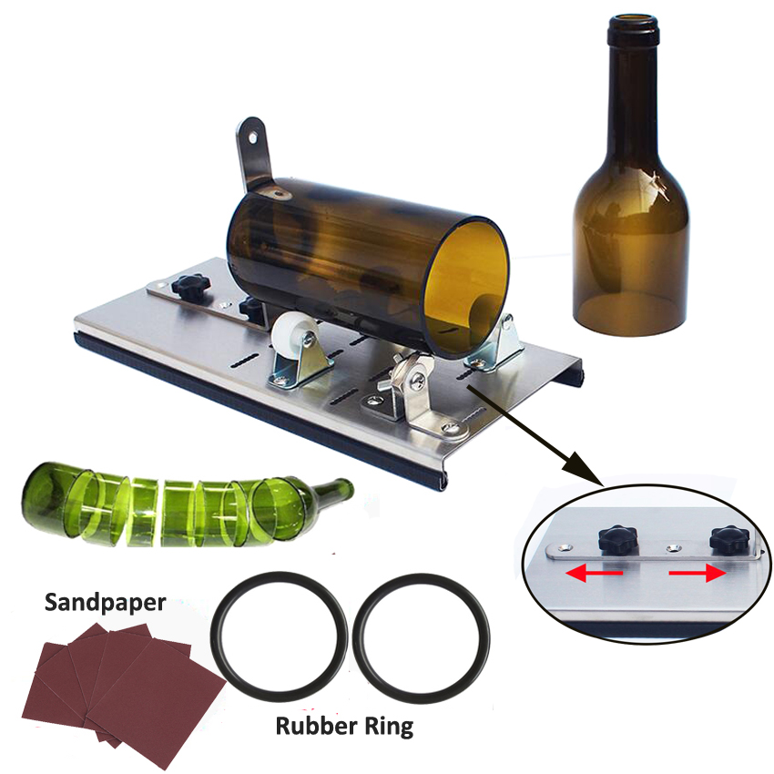 3-11mm Aluminum Alloy Better Cutting Control Create Glass Sculptures Beer Wine Jar Accurate Cutting Machine Glass Bottle Cutter