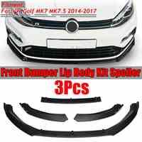 3 pièces voiture avant pare-chocs séparateur lèvre Spoiler diffuseur protecteur garde couverture garniture pour VW pour Golf MK7 MK7.5 2014 2015 2016 2017