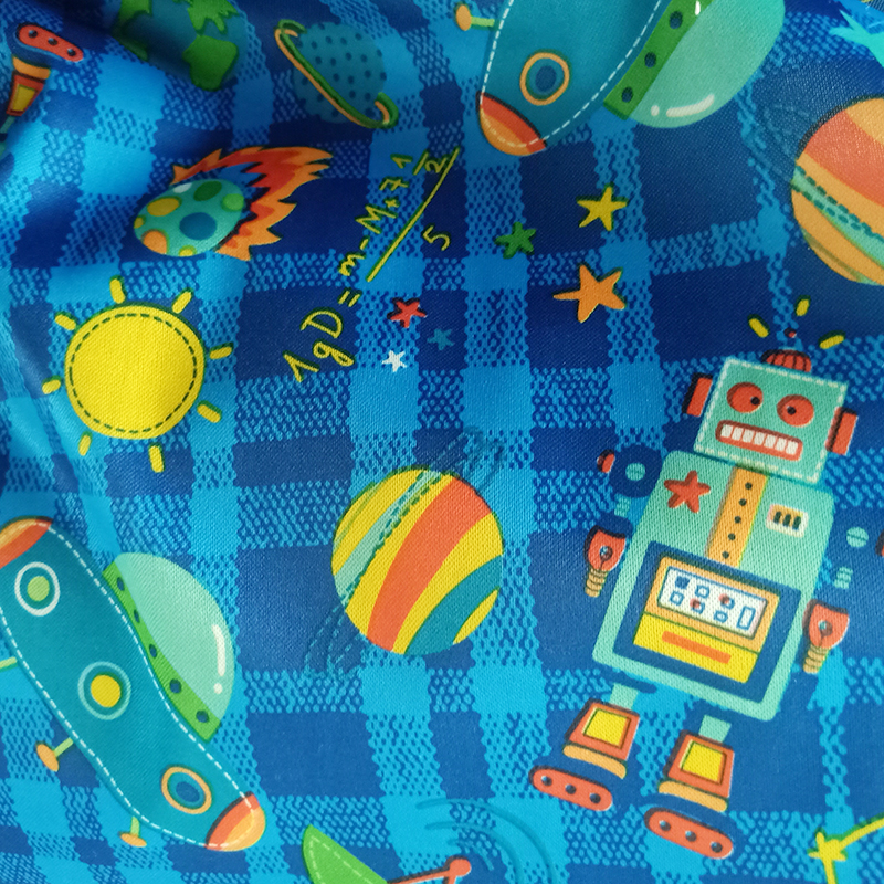 PORORO SGS certificated new coming waterproof PUL fabric for baby reusable diaper, handmade cloth diaper fabric