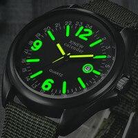Wojskowy męski zegarek wojskowy kwarcowy czarna tarcza data luksusowy zegarek sportowy na rękę męskie zegarki podświetlane Top marka Relogio Masculino