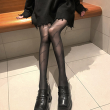 Women's Stockings High-end Letter Black Stockings Spring, Autumn And Summer Thin Style with Sexy Luxury Black Pantyhose
