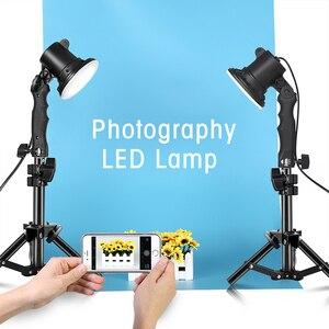 Image 5 - 3 قطعة LED مصباح التصوير إضاءة الاستوديو لمبة صورة لينة صندوق ملء ضوء أضواء لمبة و 3*37 سنتيمتر حامل ضوء