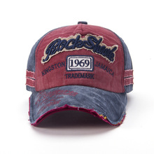 Retro Baseball Cap Men Letter Cotton Hat Vintage Snapback Women Caps Unisex Adult Washed Bone Hats