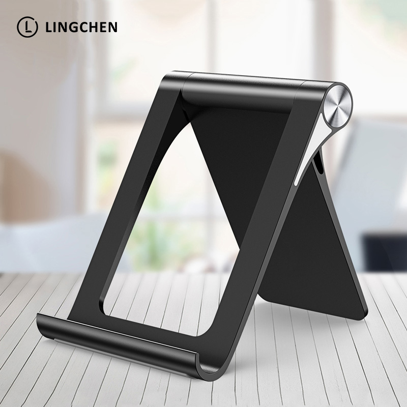 LINGCHEN Universal Mobile Phone Holder Stand Foldable Holder For IPhone 7/8 Plus Desk Tablet Stand Cell Phone Holder For Xiaomi