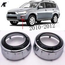 Phải & Phía Bên Trái 1 Phía Trước Xe Hơi Sương Mù Đèn Bao Khung Đen Vỏ ABS Cho Mitsubishi Outlander 2008 2009 2010