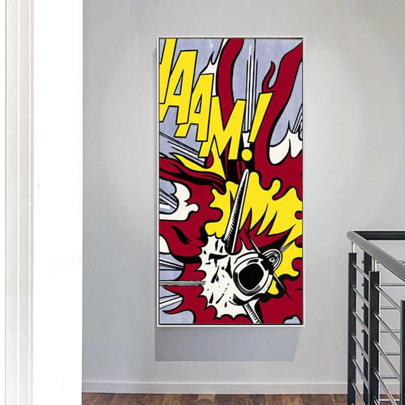42 zxddzl Pop Art Roy Lichtenstein Art Pintura Seda Lienzo Cartel de Pared Decoraci/ón del Hogar 1 30