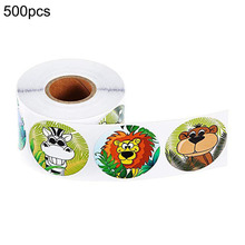 500pcs Animal Stickers Wall Decals Jungle Party Birthday Decorations Animal-Shaped Walls With Decorative Labels