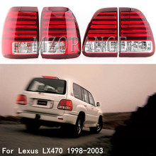 MZORANGE 1 Set Car Tail Light For Lexus LX470 1998-2003 LED Rear Brake Light Rea