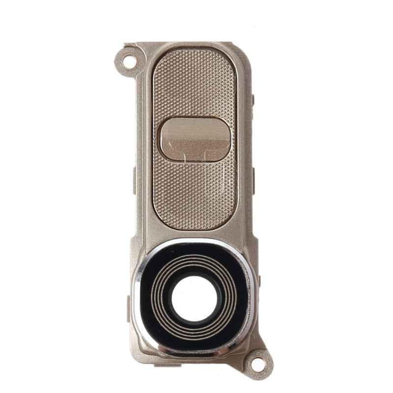 Arka kamera cam çerçeve Lens kapağı için güç ses düğmesi LG G4 H810 H811 H815 VS986 LS991 37MC