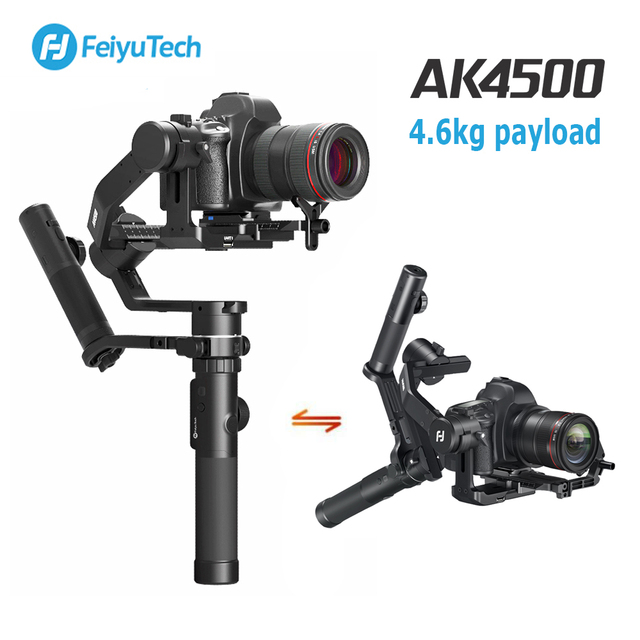 FeiyuTech AK4500 3-Axis Handheld Gimbal DSLR Camera Stabilizer Kit for Sony Canon Nikon 4.6kg payload with Remote Follow Fcous