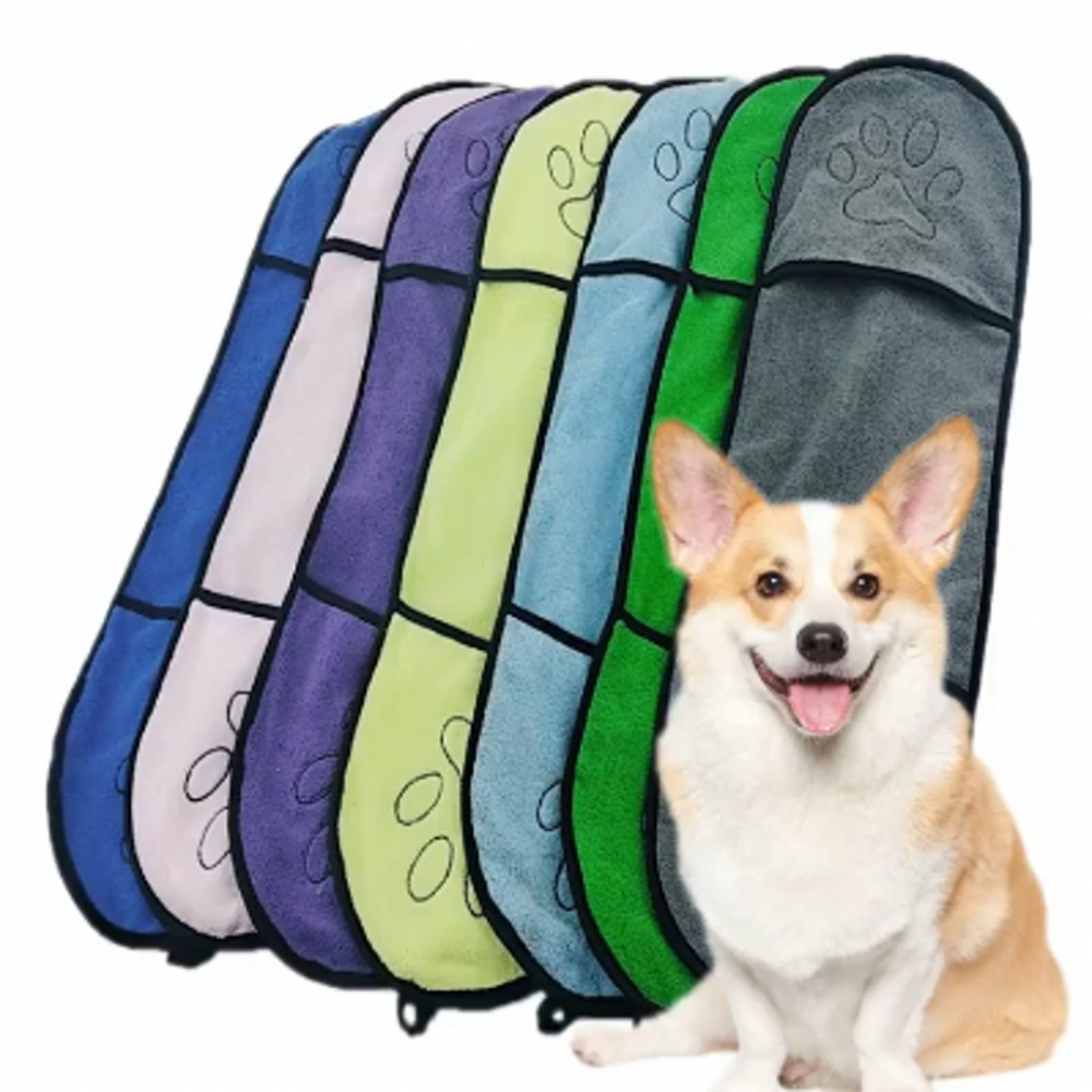 Toalla de baño para perro microfibra Ultra absorbente 1