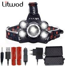 Litwod Z35 1500LM LED 헤드 라이트 사용 2*18650 배터리 led 전조 등 헤드 램프 손전등 토치 랜턴