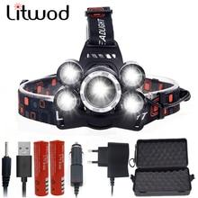 Litwod Z35 1500LM LED Headlight Use 2*18650 battery led Headlamp head lamp Flashlight Torch lantern