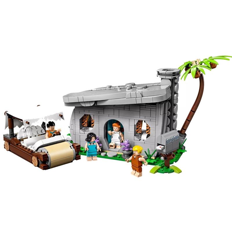 Creativos Los Picapiedra compatibles Legoinglys iDeas 21316 bloques de construcción juguetes educativos para niños regalo de Navidad FUNKO POP de una pieza mono D luffy nace Portgas D ACE TRAFALGAR Ley Tony Chopper colección figura de acción juguetes para niños de regalo
