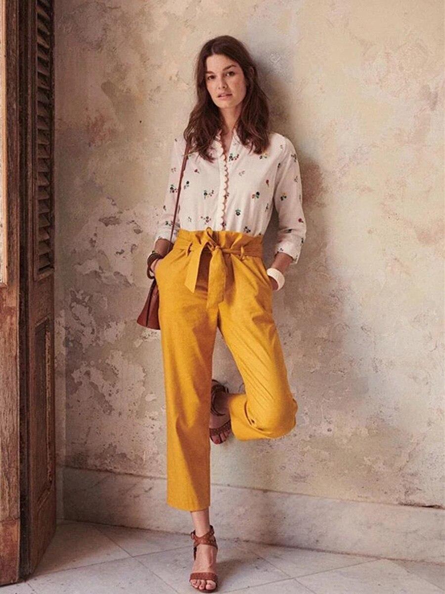 Natural 花刺繍白ブラウス秋の女性長袖カラーレース細工シックなルースシャツ Health IOW