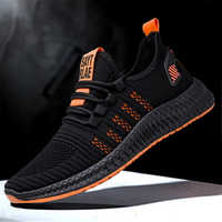 New Men Mesh Sneakers Fashion Lightweight Breathable Vulcanize Shoes Casual Lac-Up Comfortable Walking Sneakers 2019