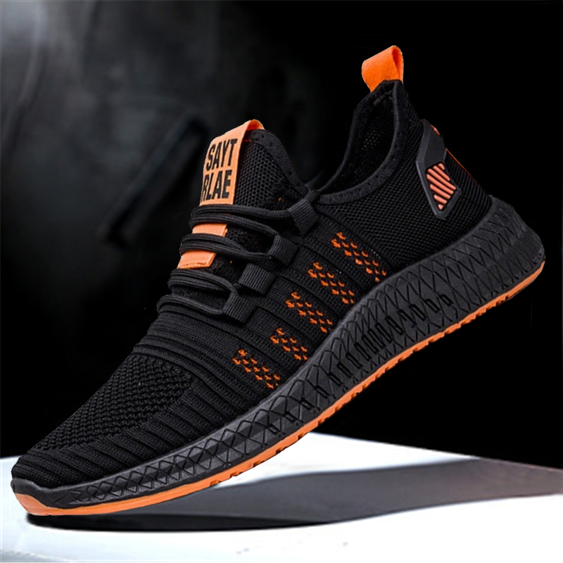 Sneakers Vulcanize-Shoes Lightweight Casual Fashion New Lac-Up Mesh Comfortable Men title=
