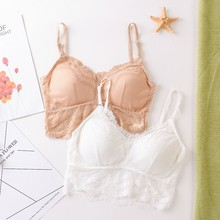 Women Tube Tops Sexy Lace Stretch Bra Removable Padded Beauty Back Wrap Chest Sexy Bralette Underwear lace underwear wrap around lace with coasters inside sexy bottoming cross anti glare beauty back strapless bra tube top