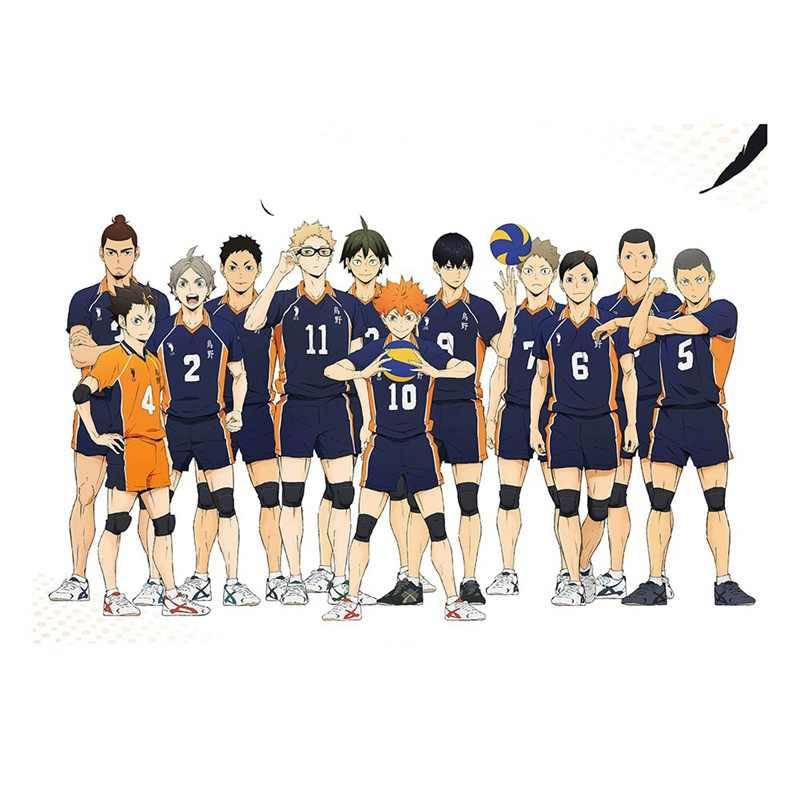 Fai da Te Pittura Digitale Pallavolo Boy Digitale Vernice Haikyuu Stile Del Giappone Del Fumetto Poster Pittura Modulare Anime Poster
