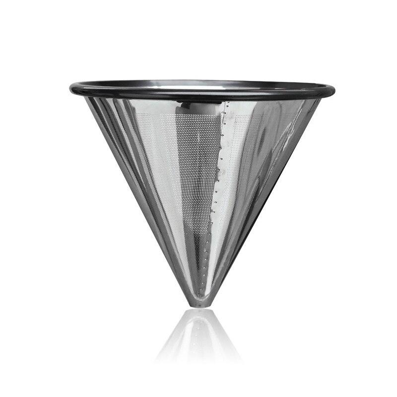 Wifehelper Filtro de Caf/é de Acero Inoxidable para el Hogar Filtro de Embudo Reutilizable Taza de Filtro de Caf/é por Goteo Plata