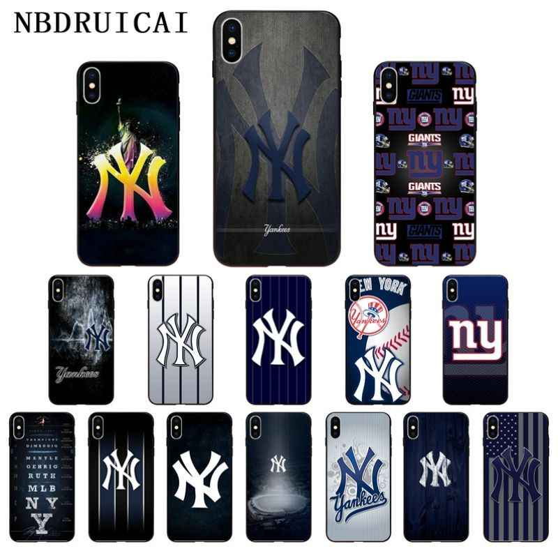 NBDRUICAI New York Yankees HÜTE CAPS NY Hohe Qualität Silikon Phone für iPhone 11 pro XS MAX 8 7 6 6S Plus X 5 5S SE XR fall