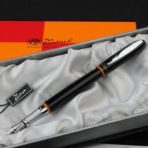 Image 4 - شحن مجاني Pimio 907 0.5 مللي متر إيريديوم بنك الاستثمار القومي الفاخرة السلس المعادن قلم حبر مع الأصلي هدية صندوق الحبر أقلام