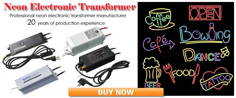 Electronic Transformer 30mA Load 0.5-2.5m Neon Sign Power Supply Rectifier G//