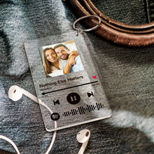 Nowy akryl muzyka piosenka piosenkarka nazwa spersonalizowana muzyka Spotify Scan Code brelok dla kobiet mężczyzn brelok niestandardowy biżuteria z obrazkiem prezent tanie tanio CN (pochodzenie) STAINLESS STEEL ZDJĘCIE Metal Breloczki Srebrny SQUARE Zgodna ze wszystkimi moda Unisex YZJ20122401 TRENDY