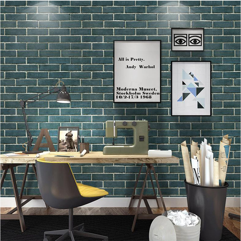 Vintage Textured Brick 3D Wallpaper PVC Self Adhesive Wallpapers For Living Room Bedroom Shop Hotel Background Decoration Mural