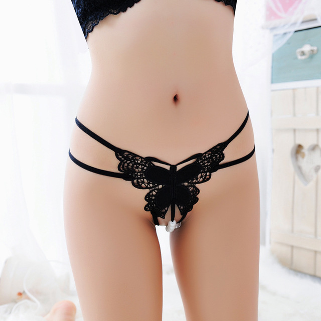 Bow Open Crotch Underwear Sexy Butterfly Erotic Costumes Exotic Accessories For Women Lingerie Underwear 1Set